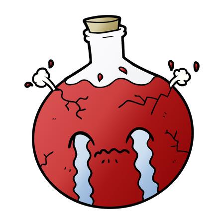 cartoon cracking potion