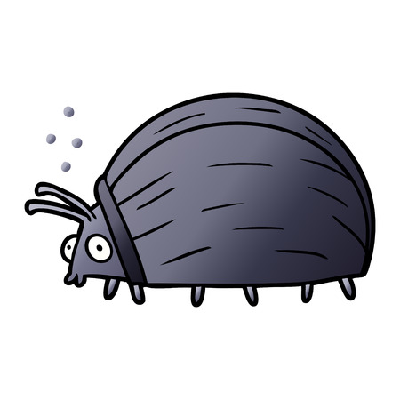 huge cartoon bug Çizim