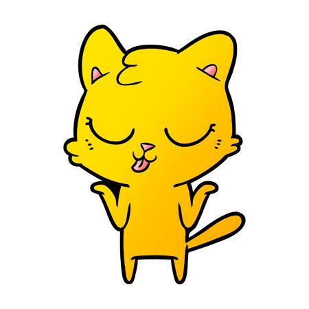 cartoon cat shrugging shoulders