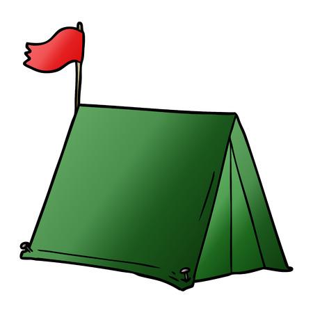 Hand drawn cartoon tent Illustration