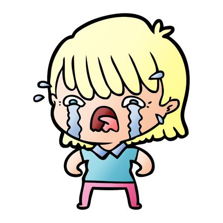 cartoon girl crying