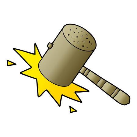 cartoon banging gavel