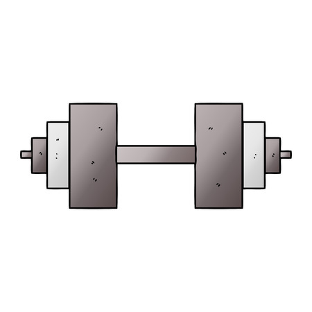 cartoon dumbbell