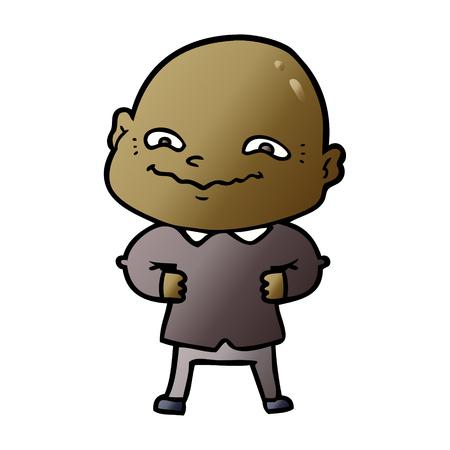 cartoon creepy guy Illustration