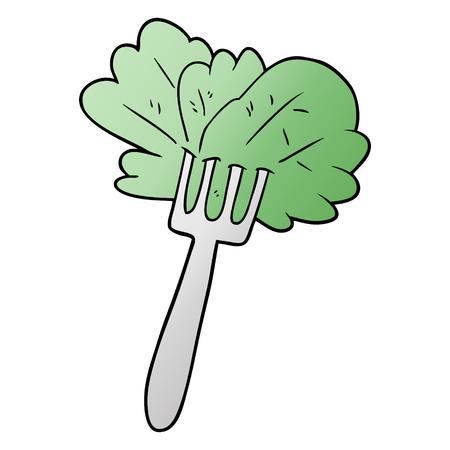 Salatblätter mit Gabel Standard-Bild - 95157391