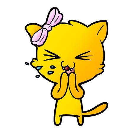 A yellow cartoon cat 向量圖像