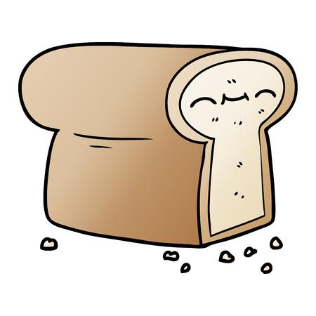 パンの漫画のローフ  イラスト・ベクター素材