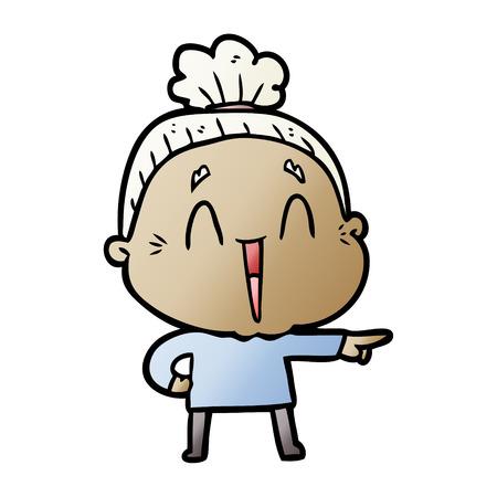 A cartoon happy old lady Stock fotó - 95159559