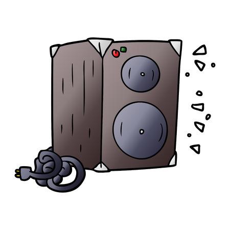 Cartoon amplifier Ilustração