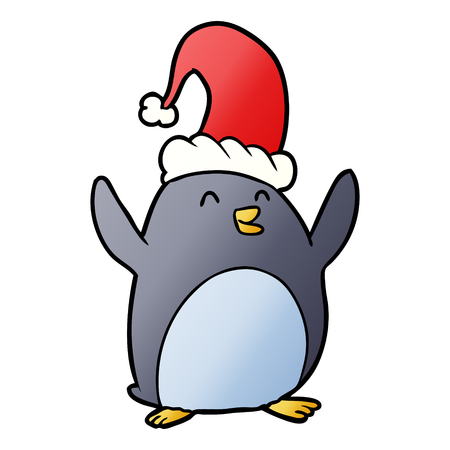Happy christmas penguin Illustration
