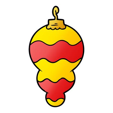 Cartoon christmas decoration Illustration