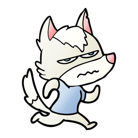 Cartoon verärgert Wolf Standard-Bild - 95160287