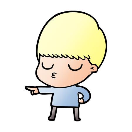 Relaxed boy cartoon Ilustração