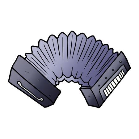 cartoon accordion illustration