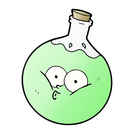cartoon green potion
