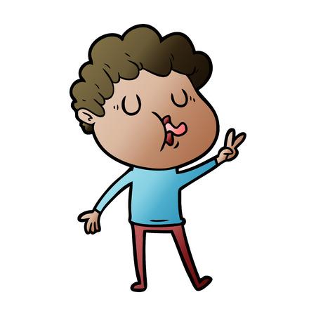 cartoon man singing