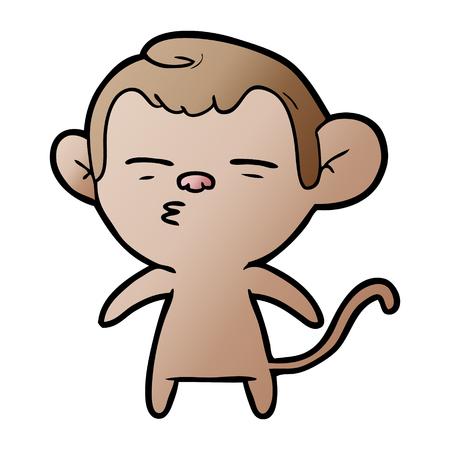 Cartoon verdächtige Affe Standard-Bild - 95225358