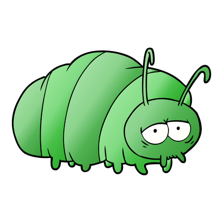cartoon green bug