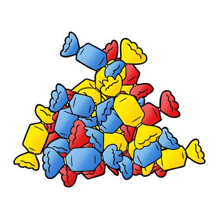 cartoon colorful candy Ilustração