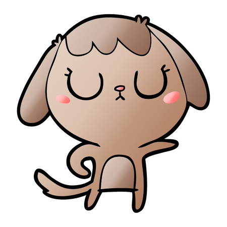 cute cartoon dog 일러스트