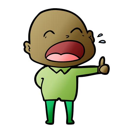 cartoon shouting bald man Foto de archivo - 95210883