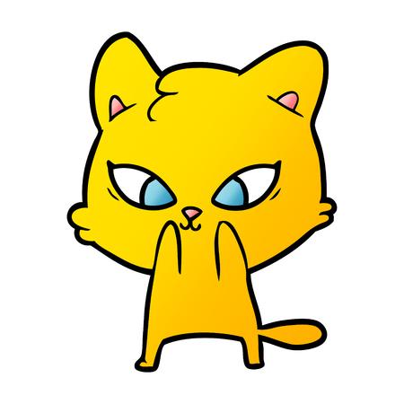 cute cartoon yellow cat