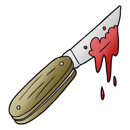 cartoon bloody knife
