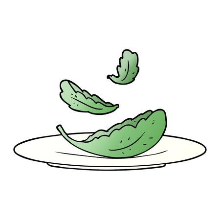 cartoon salad leaves