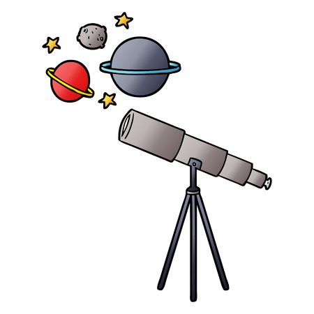 cartoon telescope illustration