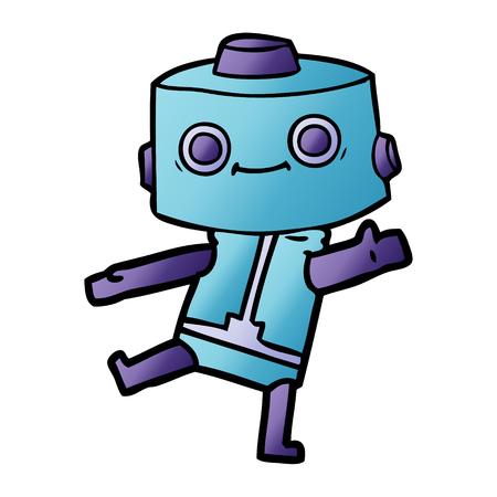 cartoon blue robot