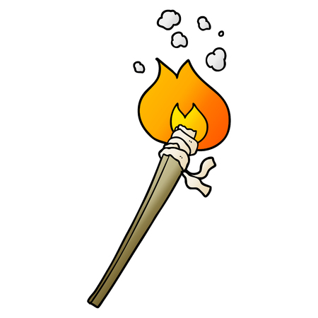 cartoon burning torch