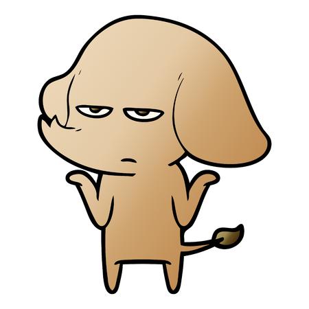 迷惑漫画ゾウ  イラスト・ベクター素材