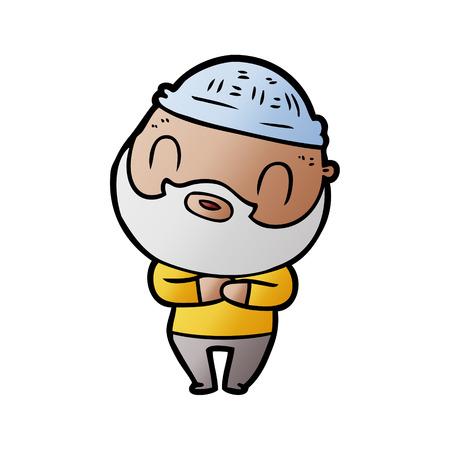cartoon bearded man  イラスト・ベクター素材