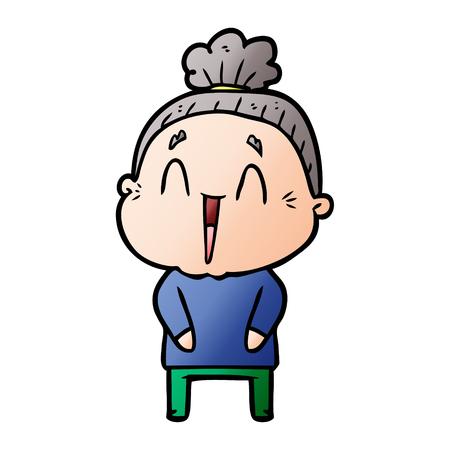 cartoon happy old lady Stock fotó - 95224189