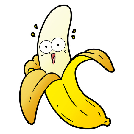 cartoon crazy happy banana Vettoriali