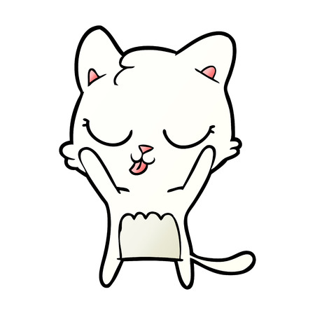 cute cartoon white cat Stock Vector - 95224566