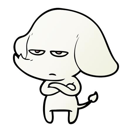 annoyed cartoon elephant Ilustrace