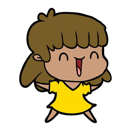 cartoon woman in yellow dress