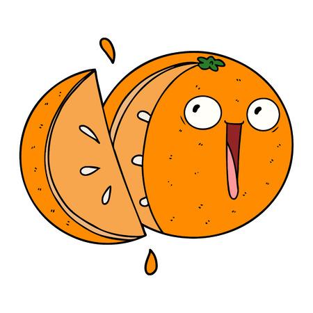 미친 만화 오렌지 일러스트