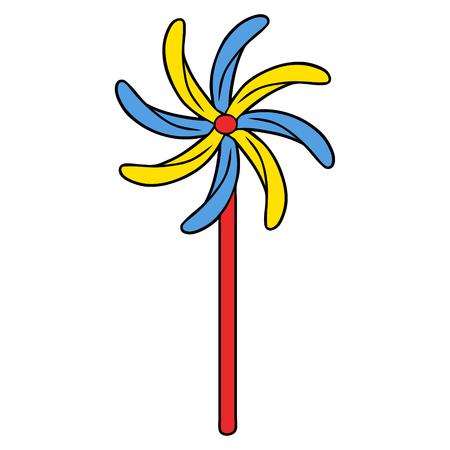 おもちゃ風車のイラスト  イラスト・ベクター素材