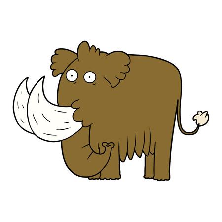 Cartoon Mammut Standard-Bild - 95186940