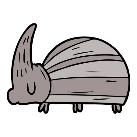 giant beetle cartoon Vector illustration.