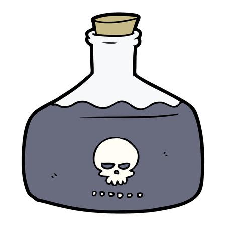 Cartoon vial of assassin poison