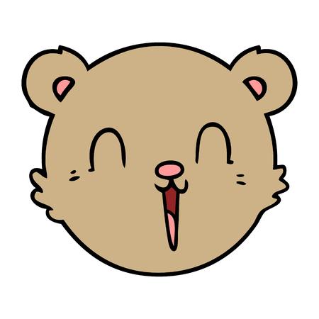 かわいい漫画テディベアの顔  イラスト・ベクター素材