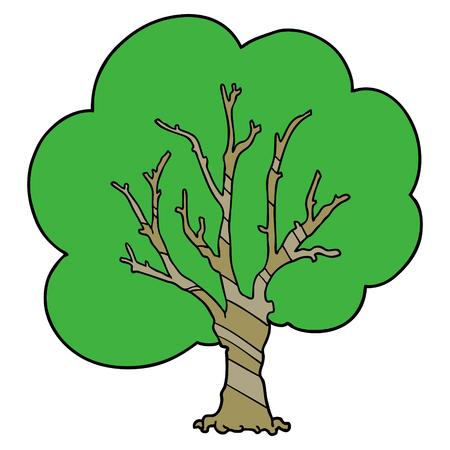 Cartoon colored tree. 版權商用圖片 - 95200421
