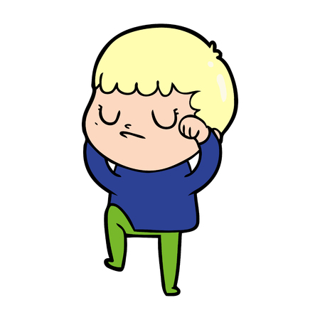 Cartoon grumpy boy Illustration