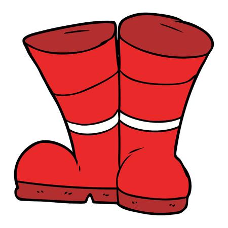 Wellington laarzen cartoon Vector illustratie. Stock Illustratie