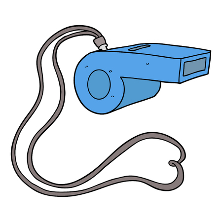 cartoon whistle Vector illustration.
