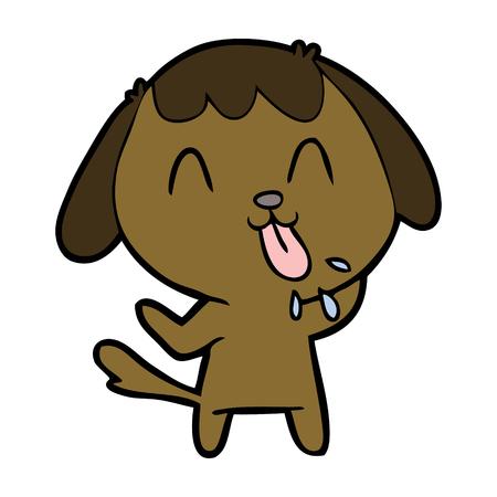 cute cartoon dog Vector illustration.