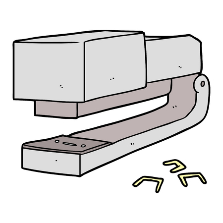 cartoon office stapler Vector illustration. Ilustração